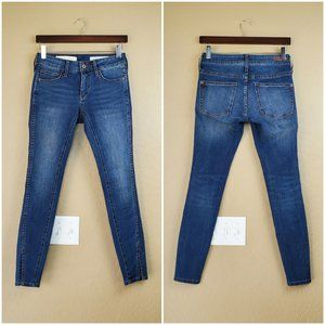 Pilcro and the Letterpress Mid Rise Skinny Jeans